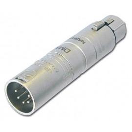 Neutrik Adaptateur DMX XLR 3 fem. / XLR 5 mâle