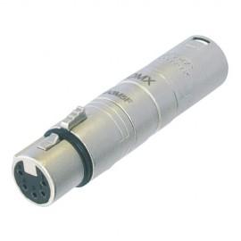 Neutrik Adaptateur DMX XLR 3 mâle / XLR 5 femelle