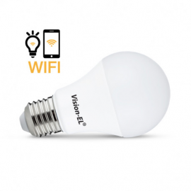AMPOULE LED E27 CONNECTÉE WIFI 9W CCT + RGB