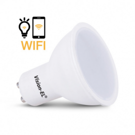 AMPOULE LED GU10 CONNECTÉE WIFI 5W 4000°K + DIMMABLE