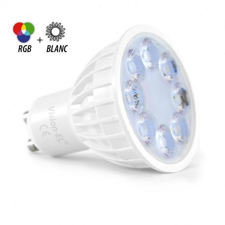 AMPOULE LED GU10 4W RGB+BLANC