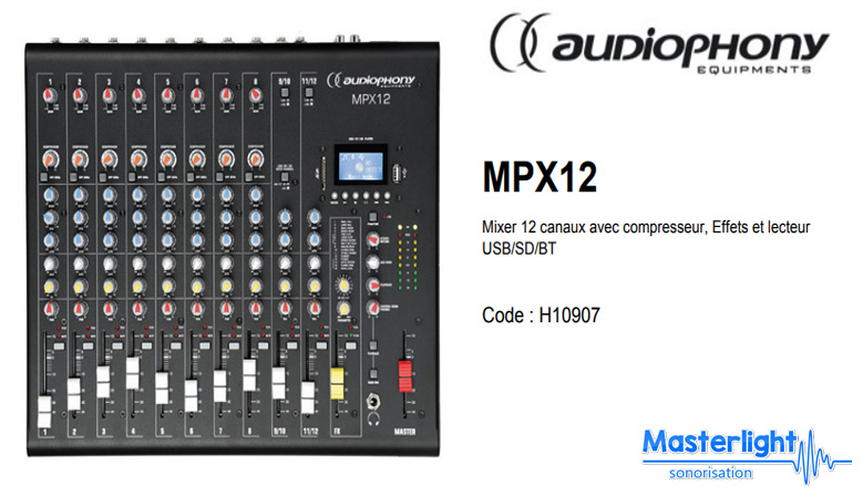 Table mixage audiophony mpx12